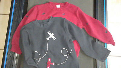 2 Gymboree Airplane Sweaters Size 5T