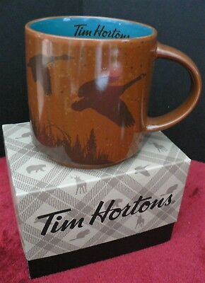 NEW Tim Hortons Limited Ed HOLIDAY Coffee Mug - GOOSE / BROWN - Gift Box 2017