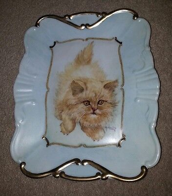 Czech Republic M.S.Geling 2062 Hand Painted Ceramic Tray
