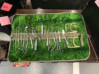 Antique Surgical Tool  Field Medical Kit with instruments