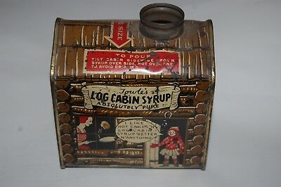 Vintage 1940's Towle's Log Cabin Syrup, Girl in Door, Cartoon Ends