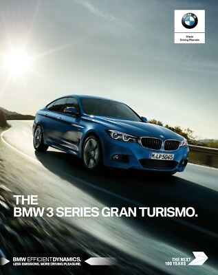 BMW 3 Series Gran Turismo 2017 catalogue brochure English int'l