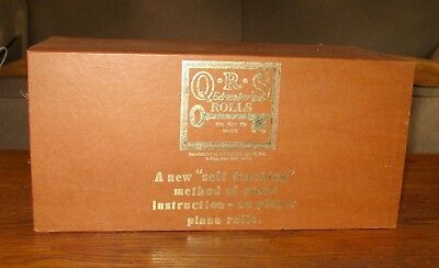 Set of 6 Vintage QRS Educator Player Piano Rolls Excellent Condition