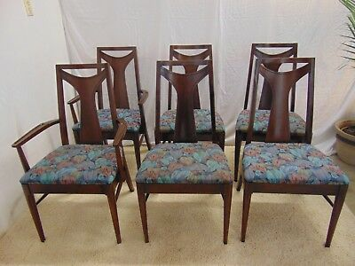 Mid Century Modern Dining Chairs- Set Of 6