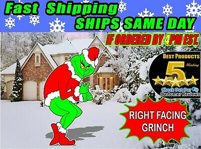 GRINCH Stealing CHRISTMAS Lights Yard Art RIGHT Facing Grinch FREE SHIPPING