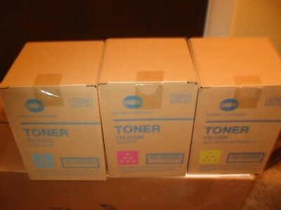 New Konica Minolta Color Toner Set Tn310C Cyan Tn310M Magenta Tn310Y Yellow Lqqk