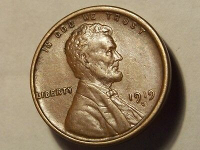 1919-D Lincoln Wheat Cent Beautiful Detailed Wheat Lines Bu Estate Coin! #3760