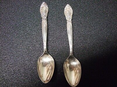 Two Community Sterling Silver Ballad Baby Spoons and three msc. forks