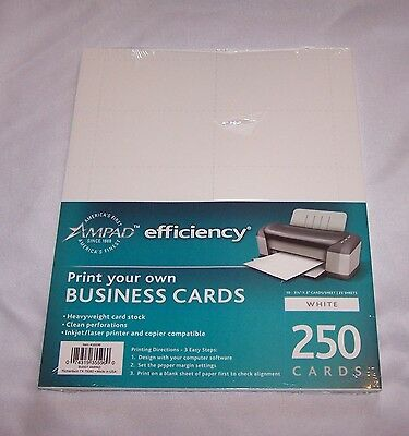2 Nip Ampad Business Cards 250 Each 65 Lb Coverstock Print Your Own