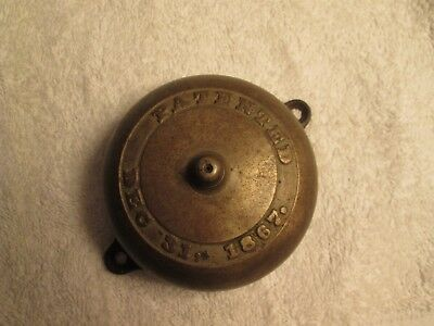 Antique Brass and Cast Iron Door Bell Patented Dec. 31,1867