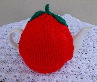 "Hand Knitted ""apple Design""  Tea Cosy (Cosie)"