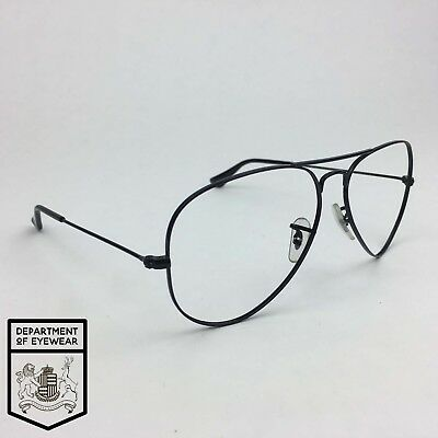 RAY BAN eyeglass BLACK AVIATOR frame Authentic. MOD: RB 3025