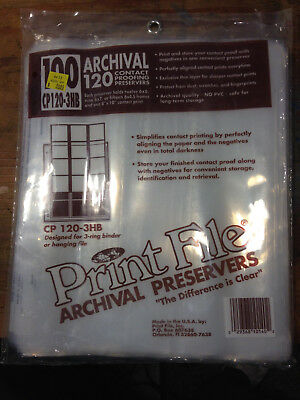 Print File 120-3B Negative Archival Preservers for 120 Film - 80 Pack