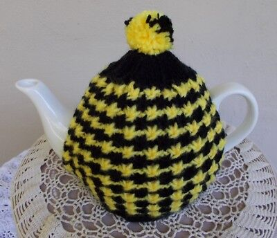 Hand Knitted Tea Cosy.  (For The Richmond Supporter)