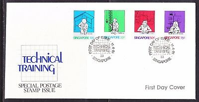 Singapore 1981 Technical Training First Day Cover Unaddressed