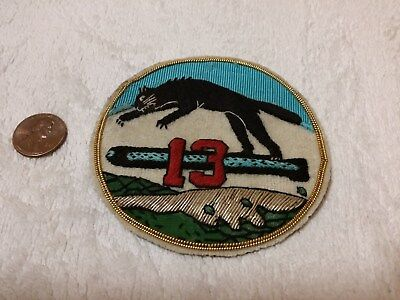 US Navy WWII PT Torpedo Boat Squadron 13 Bullion Patch ORIGINAL