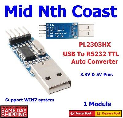 USB To RS232 TTL PL2303HX Auto Converter Module Adapter for DIY Prototyping