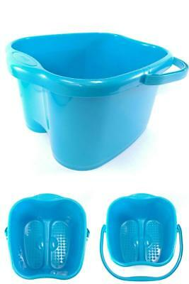 3 Gallon Bucket Basin For Foot Bath Soak Or Detox With Easy To Carry Handle Blue