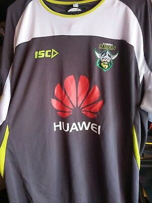 Canberra Raiders NRL  ISC Players Training T Shirt Size XXL