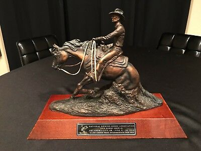 2010 NRHA Derby Intermediate Non-Pro Champion C.R. Morrison Bronze Trophy