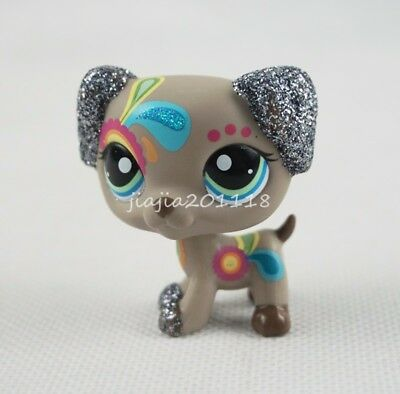 Littlest Pet Shop LPS #2344 Sparkle Tattoo Dalmatian Dog Glitter Puppy Toys#nm6