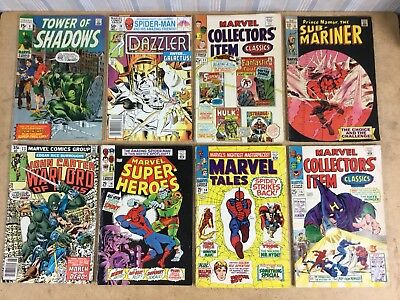 Mixed Lot Of 8 Vintage Marvel Comic Books