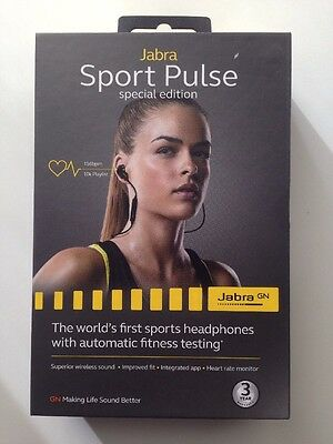 New Jabra Sport Pulse Special Edition Wireless Earbuds (black)