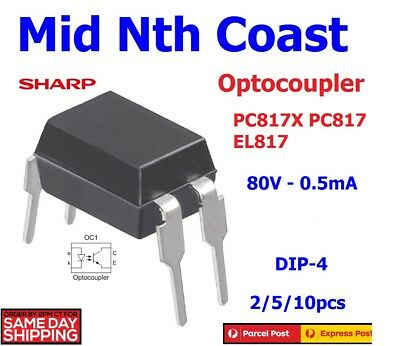 2/5/10pc Sharp PC817X EL817 LTV817 80V - 50mA General Purpose Photocoupler DIP 4
