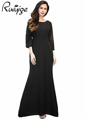 RUIYIGE Womens Ladies Formal Evening Party Gown Prom Cocktail Maxi Long Dress