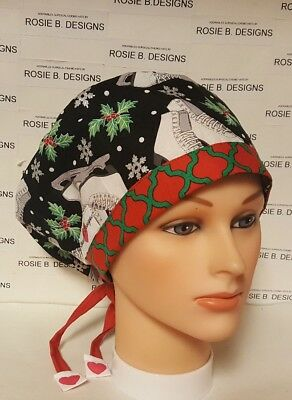 Christmas Time   /pixie Hat  / Scrub / Medical Surgical / Cap