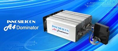 Innosilicon A4 Dominator ASIC Scrypt Miner - 285MH/s w/ PSU LTC not Antminer L3+