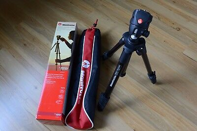 """Manfrotto - 60"""" Compact Action Tripod - Black MKCOMPACTACN-BK"""