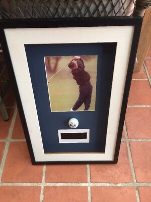 Tiger Woods Hand Signed & Framed Titleist Golf Ball. Certificate Of Authenticity
