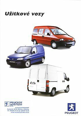 Peugeot Partner Expert Boxer 206 XA  09 / 2000 catalogue brochure tcheque Czech