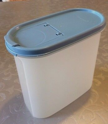 Tupperware Storage Containers 1.7 litres Oval with Dusty Blue Lid