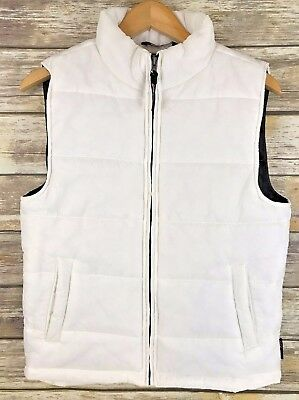 Weatherproof 1948 Brand Boys Girls White Puffer Down  Vest Size: 16