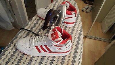 """Adidas - """"NEW"""" Old School Adidas White/Red Hightops Red stripe Men's size 13"""
