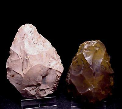 2 nice FRENCH mousterian HANDAXES !!