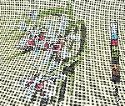 Tapestry Colour Printed Micro Canvas Red Orchid Vanda Flowers Baxtergafik Exotic