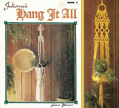 "Vintage 1978 Macrame Pattern Book ""juliano's Hang It All""  Book 5 - 13 Projects"