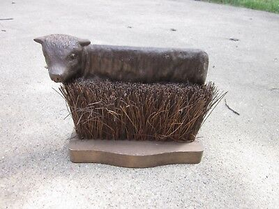 Antique Cast Iron Cow Boot Scraper Made in England