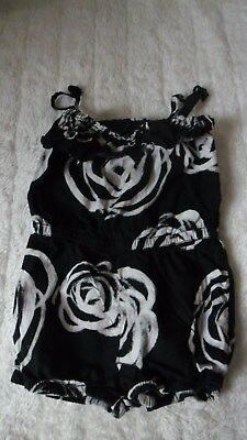 Gap Girls Black & White Floral Strappy Playsuit Age 3 Years Must L@@k!!
