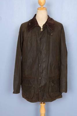 Mens BARBOUR Classic Beaufort WAXED Jacket Olive Size 48