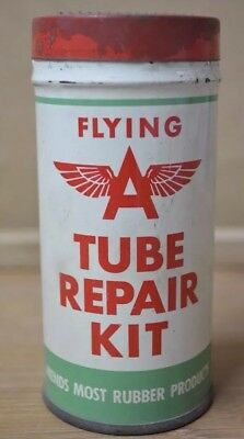 Mint Flying A Tire Tube Patch Repai Kit - Veedol Tydol Gas Oil Grease Sign Can