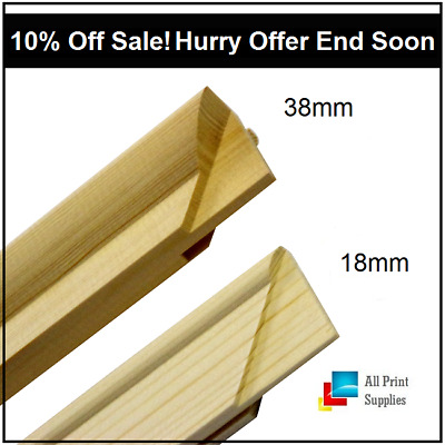 Canvas Stretcher Bars,Canvas Frames, Pine Wood 18mm & 38mm Thick-Sold By Pair//B