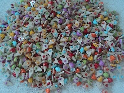 JOB LOT 700 ice cream buttons all colours
