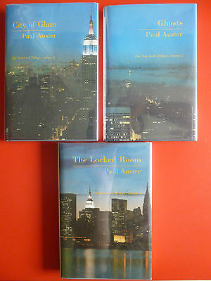 Paul Auster, 'New York Trilogy' all first editions all SIGNED, City of Glass