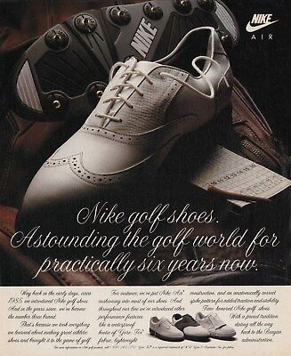 Neat Old 1991 NIKE Air Golf Shoes Print Ad