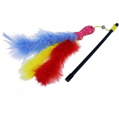 Cat 'n' Caboodle Carnival Cat Kitten Toy Teaser Wand Fish Feathers with Bell
