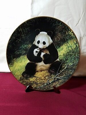 PANDA vintage collector plate, Endangered Species, by Will Nelson, W.S. George